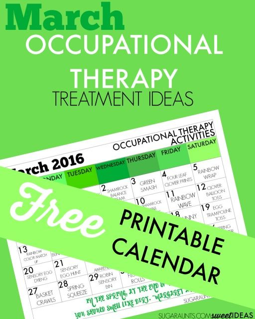 January Calendar: Sensory Integration Activities Turning Therapy into Play - Sugar Aunts