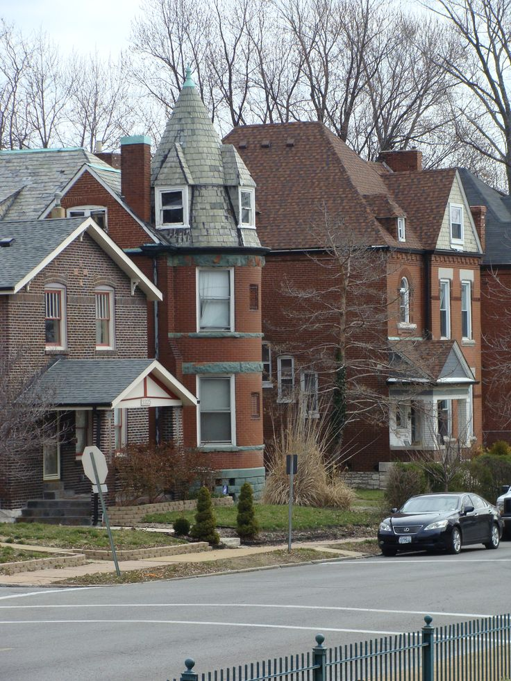 St. Louis City homes in the Tower Grove East neighborhood.
