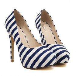 $10.15 Sexy Women's Pumps With Striped and Stiletto Design