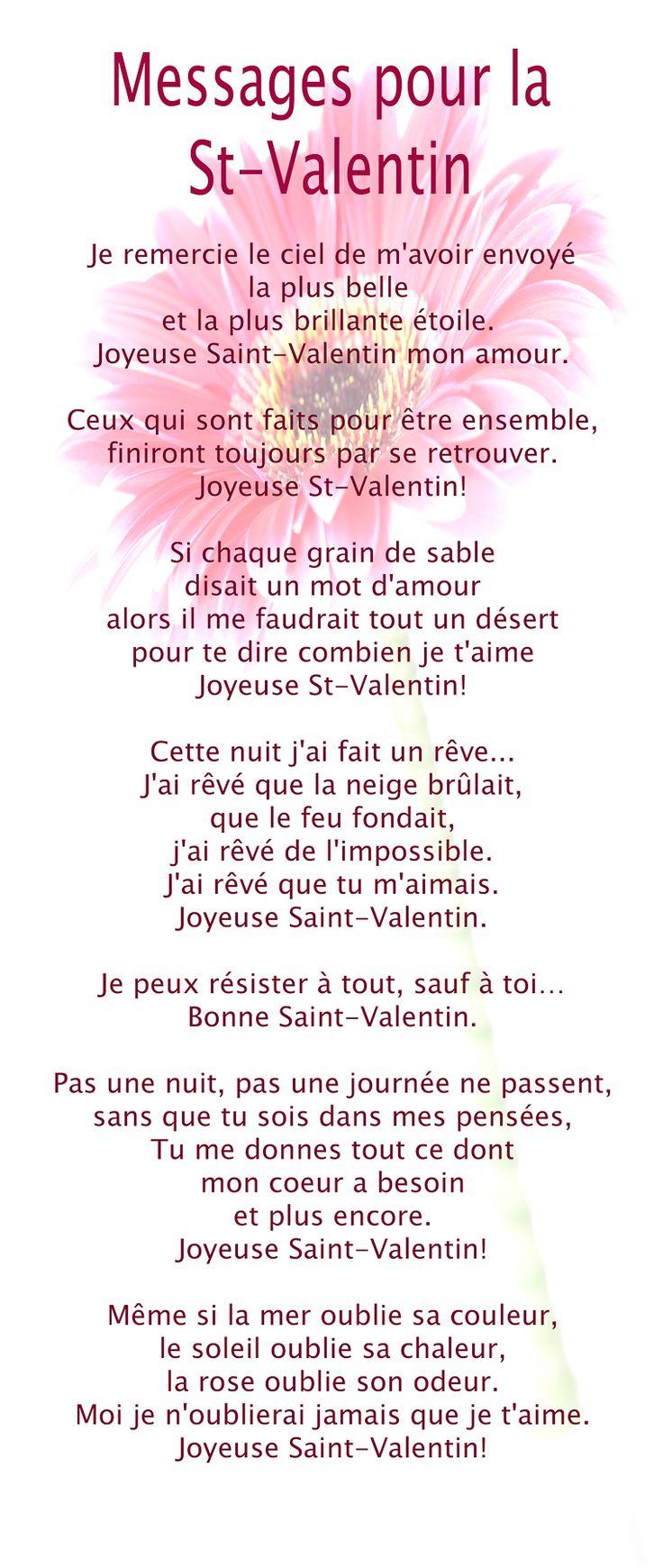 25 best ideas about message saint valentin on pinterest - Carte pour la saint valentin a fabriquer ...