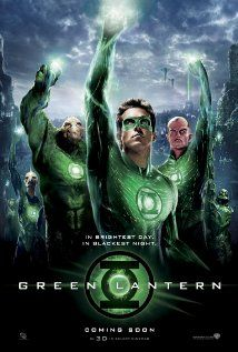 Green Lantern - A test pilot is granted an alien ring that bestows him with otherworldly powers, as well as membership into an intergalactic squadron tasked with keeping peace within the universe.