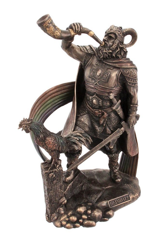 9 1/2 Inch Norse God Heimdall Bronzed Finish Statue Pagan ...