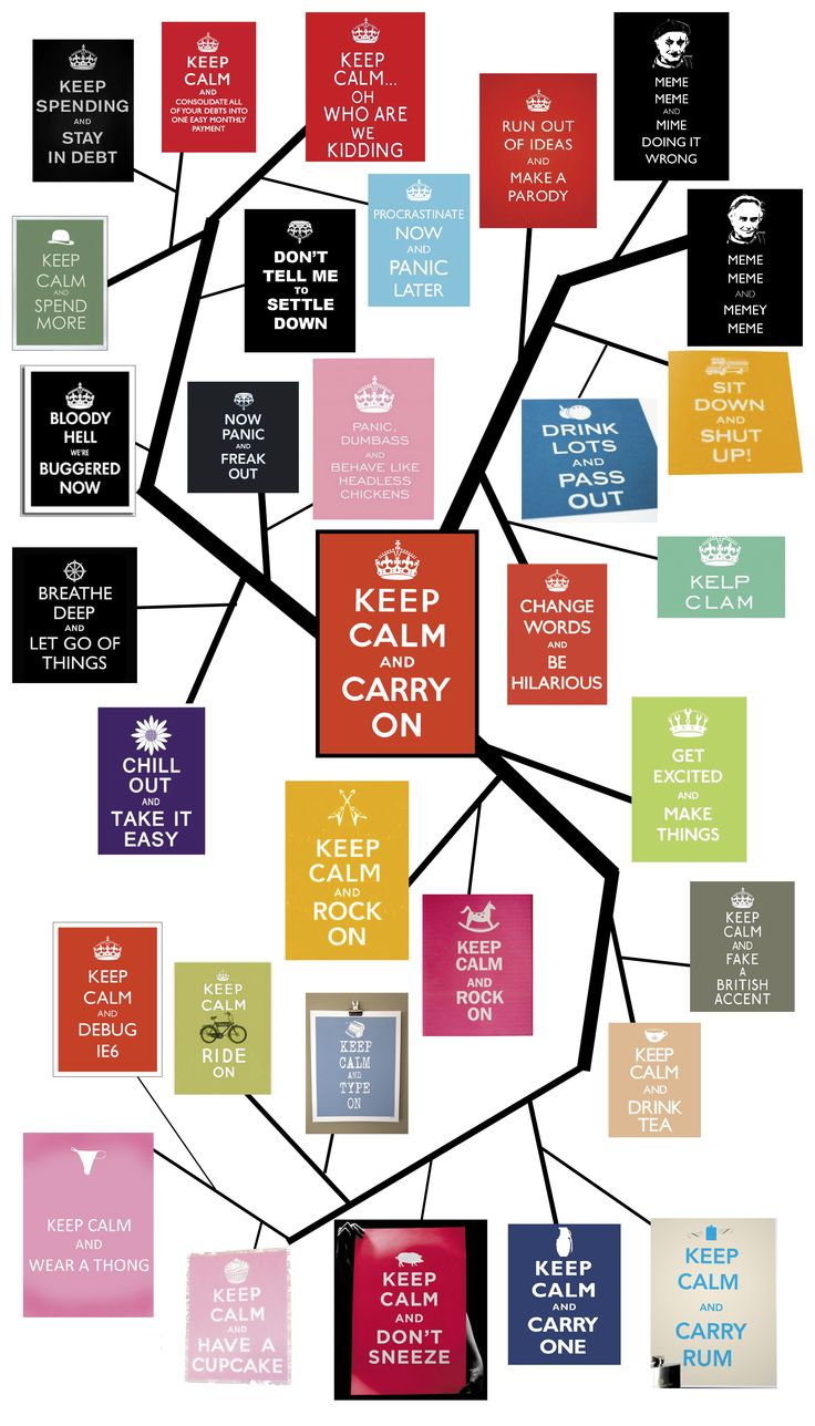 "Previous pinner: ""keeping calm, keeping calm, keeping calm..........""  Me: Click through for a Squidoo lens on the ""Keep Calm"" meme, with history, more photos, collections, and more."