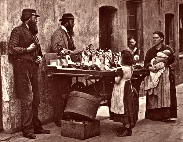 Street Life in London, 1876    All images by John Thomson; copyright Bishopsgate Institute via Spitalfields Life