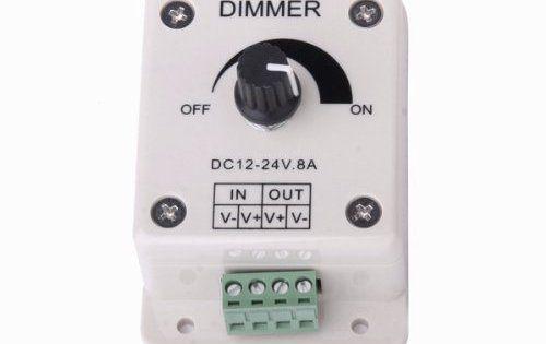 DC 12V-24V 8A interrupteur variateur / dimmer Contrôleur de la luminosité de LED Ampoule: Gradateur excellent pour les lumières LED Solide…