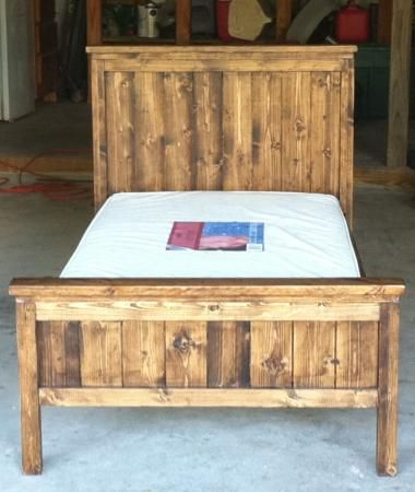 Farmhouse Toddler Bed | Do It Yourself Home Projects from Ana White