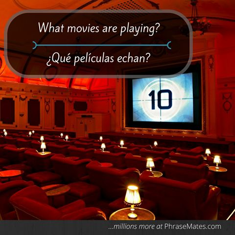 Going to the movies is a great plan for tonight! Get some advice with this phrase!