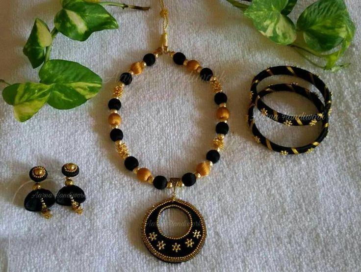 Black chandbali Necklace