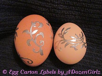 Blown Eggs as Christmas Ornaments