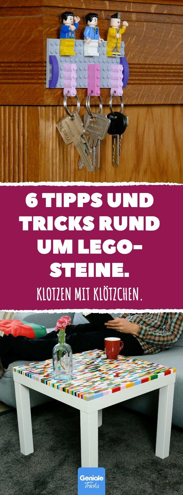 6 Tipps und Tricks rund um Lego-Steine. Klotzen mit Klötzchen. 6 Tipps und Tricks rund um Lego-Steine. #diy #lifehacks #lego #Alltagstipps