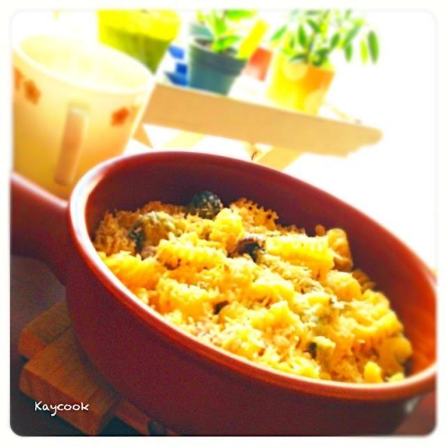 牡蠣と冬野菜のシチューをリメイク。 ミルクとチーズを混ぜてグラタンに。節約&簡単ランチです - 17件のもぐもぐ - クリームシチューのリメイクでランチ(^^) by Kaycook