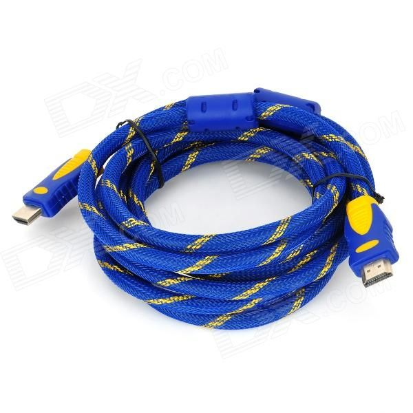 Quantity: 1; Color: Blue + Yellow; Material: Plastic; Compatible Models: Suitable for HDTV, home theater, business projector, devices with HDMI port; Connector: HDMI male; Function: Great for video and audio transmission; Cable Length: 300 cm; Packing List: 1 x Cable; http://j.mp/VILyOq