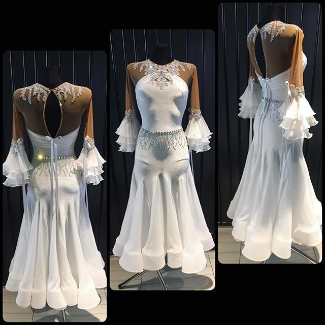 Pure white creation by DLK United Design  #wdsf #ballroomdress #ballroom #dlk_united_design #dancewear