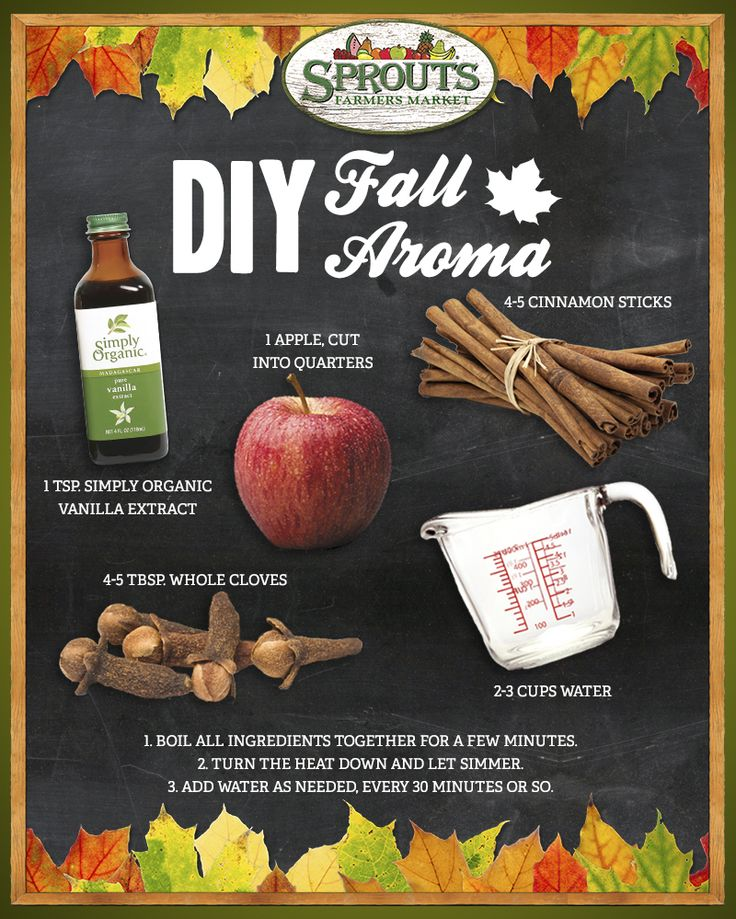 DIY Fall Aroma - This simmering pot recipe will fill your home with the scent of fall! - Sprouts Farmers Market - sprouts.com #FallFlavorites