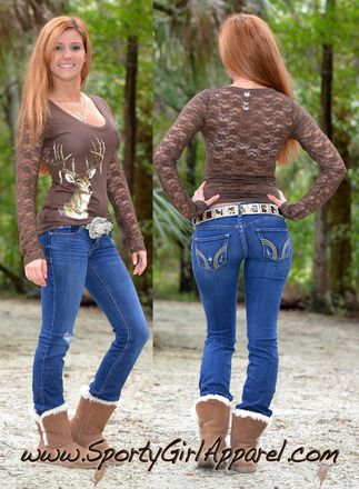 6229d1069d3 Sexy lace deer hunting top- every hunters dream cute and fashionable big  buck hunting shirt