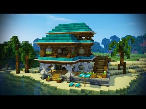 Minecraft BEACH HOUSE Tutorial (Minecraft House) - YouTube