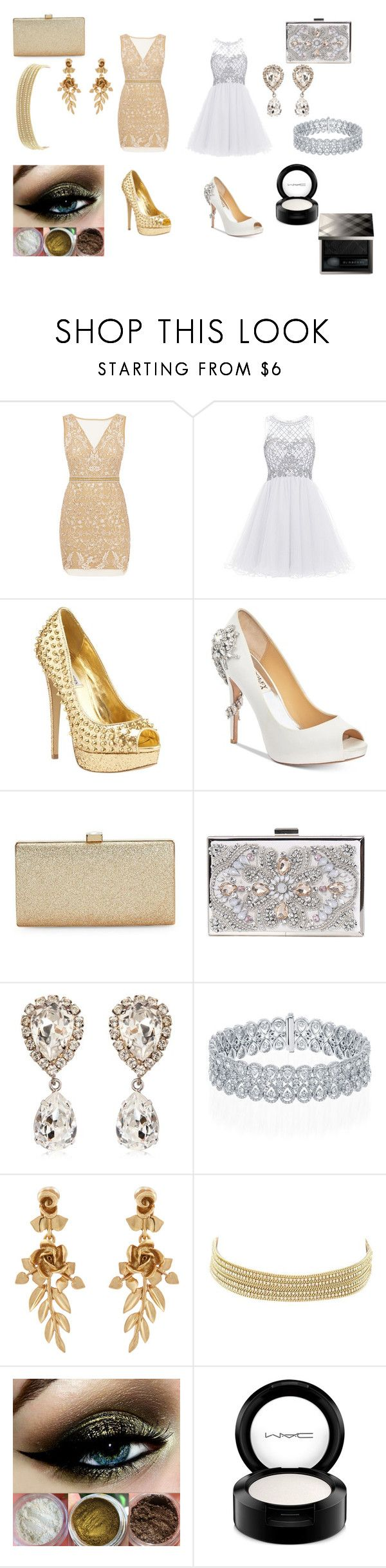 """New Years Eve party"" by miastammer ❤ liked on Polyvore featuring Nicole Miller, Steve Madden, Badgley Mischka, La Regale, Dolce&Gabbana, Oscar de la Renta, Charlotte Russe, MAC Cosmetics and Burberry"