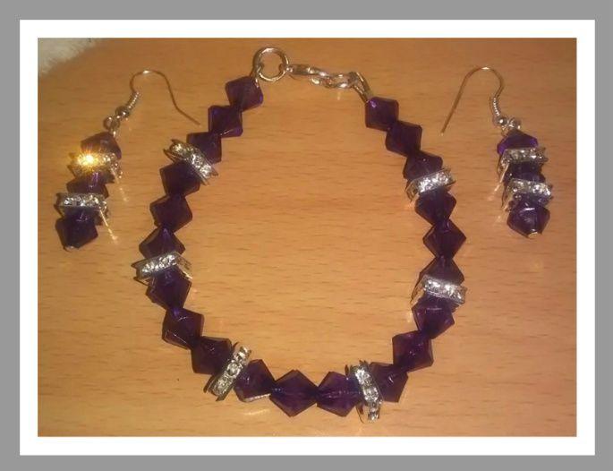Purple crystal set