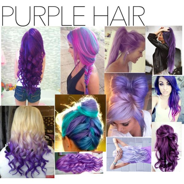 Purple Hair by sweet-cakes101 on Polyvore featuring polyvore beauty purplehair
