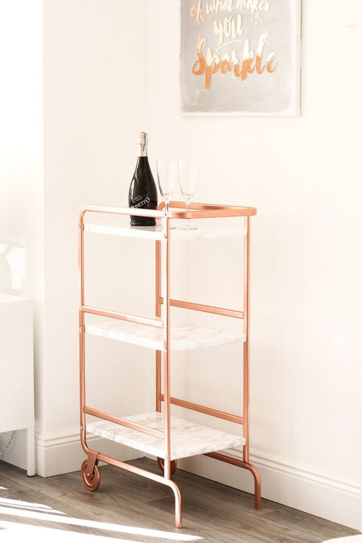 IKEA SUNNERSTA TROLLEY DIY HACK - Bright Copper and Marble finish