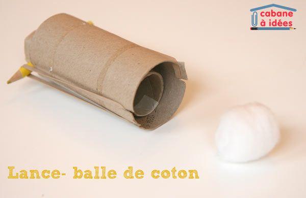 Lance balle de coton | La cabane à idées