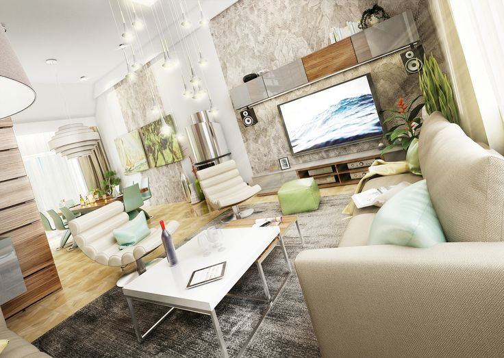 Vizualizace obývací části