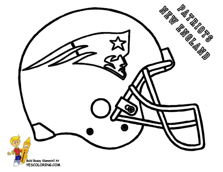 Print Out This NFL Patriots Football Coloring Page Wow Tell Other