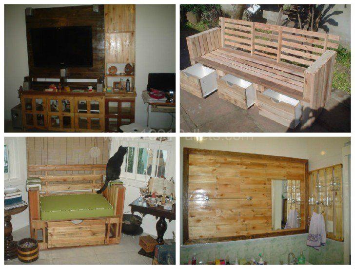 Mais de 1000 ideias sobre sofa feito de pallet no for Sofa palets ikea