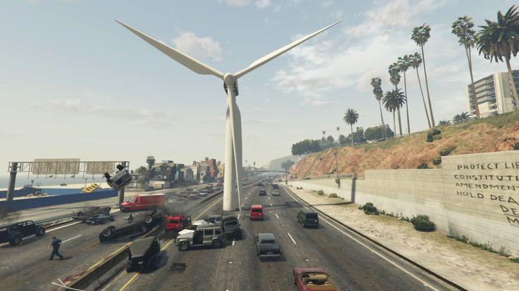 Grand Theft Auto 5 - Inconvenient Windmill #GrandTheftAutoV #GTAV #GTA5 #GrandTheftAuto #GTA #GTAOnline #GrandTheftAuto5 #PS4 #games