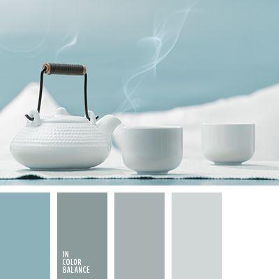 Para un ambiente reducido los tonos celestes y grises son los más indicados ya que dan una sensación de amplitud. Tal esquema de color es una excelente opción para salones con mucha luz solar, dormitorios y cuartos de baño.
