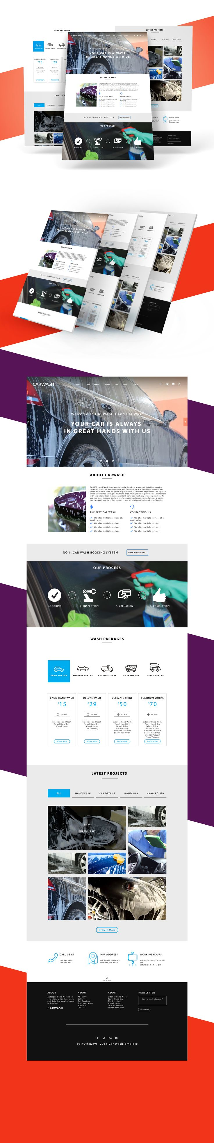 Is a free carwash template for car washing company