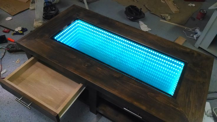 Infinity Mirror Coffee Table | Do It Yourself Home Projects from Ana White  http://www.justleds.co.za
