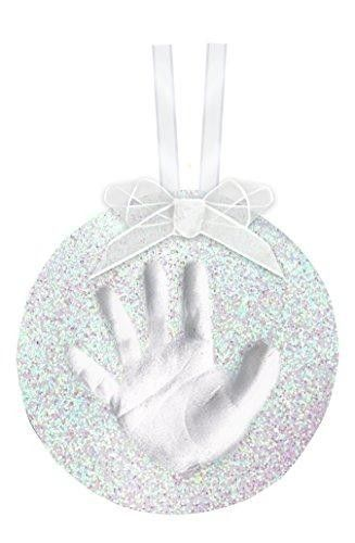 Tiny Ideas Glitter Handprint Ornament, Glitter  Our original Handprint Ornament now comes with glitter. Add a personal touch to your tree for years to come with this ornament. Just press their tiny hand or foot into the non-toxic, soft air-drying clay to capture the precious imprint. There s absolutely no mixing, no baking, and no mess. If you make a mistake - no problem, you can redo it as many times as you need until you get the perfect impression.