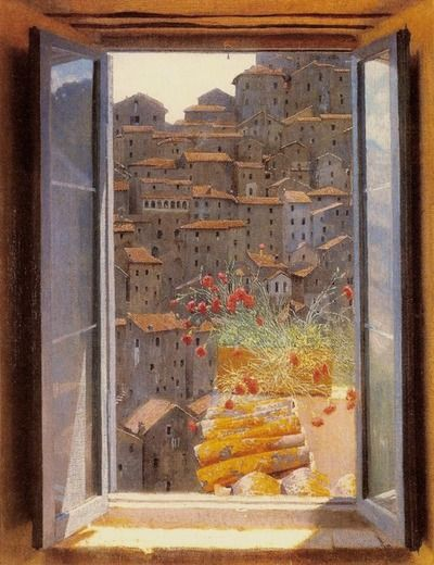 View from a Window, 1905, Private Collection Edward Okuń (Polish, 1872–1945)