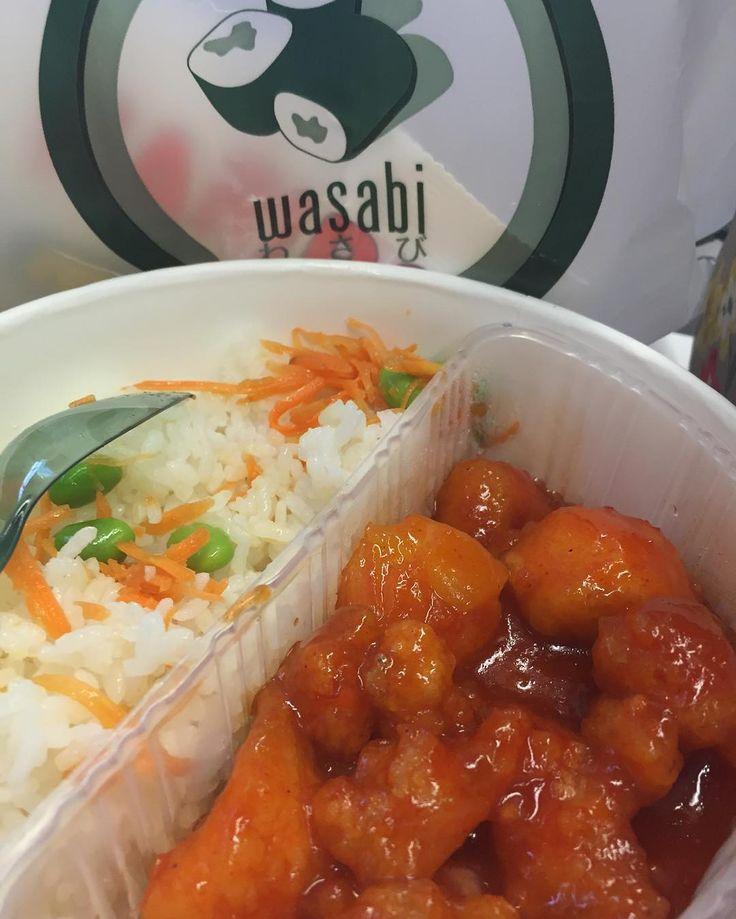 Mmmm @wasabi_uk bento box for tea sweet chilli chicken!