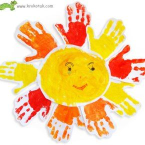 Craft Project : Sunshine Hands : Krokotak