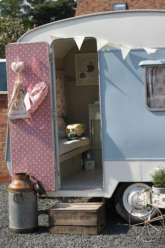 Vintage Classic Caravan - 1960's Bluebird Eurocamper - small & shabby chic | eBay