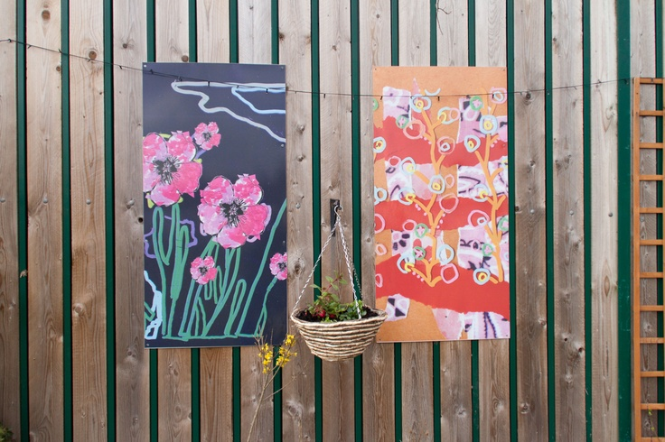 Wall paintings at Reeds Road in Huyton
