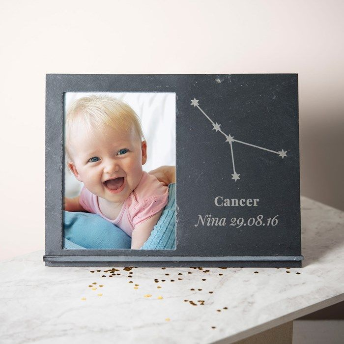 Engraved Slate Chalkboard Photo Frame - Horoscope Star Sign | Engraved By Getting Personal
