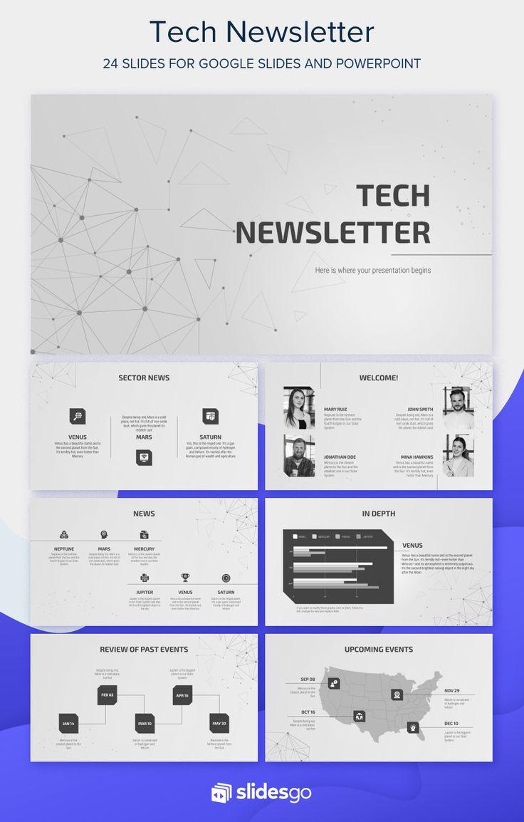 Tech Newsletter Presentation Free Google Slides theme