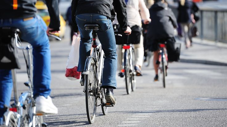 Study of 250,000 UK commuters shows walking is good too but suggests two wheels are best.