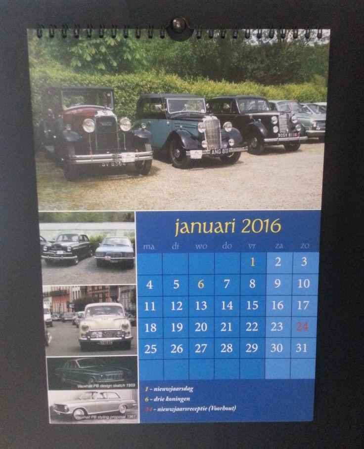 Een klassieke kalender, op te hangen door middel van een haakje.