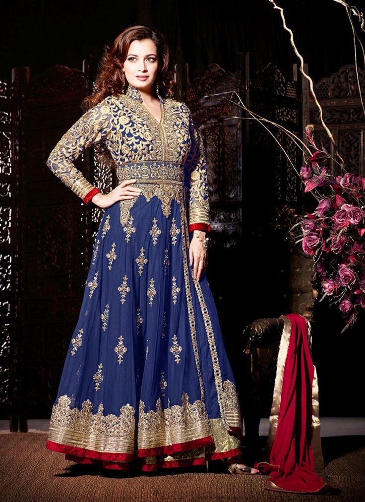 Wholesale Blue Net Classic Anarkali Suit Collection - Buy Now @ http://www.suratwholesaleshop.com/19004M-White-Wedding-Wear-Velvet-Anarkali-Suit?view=catalog #eidsalwarkameez #eidbestcollectionanarkalisuit #eiddressmaterail #eidclothsUK