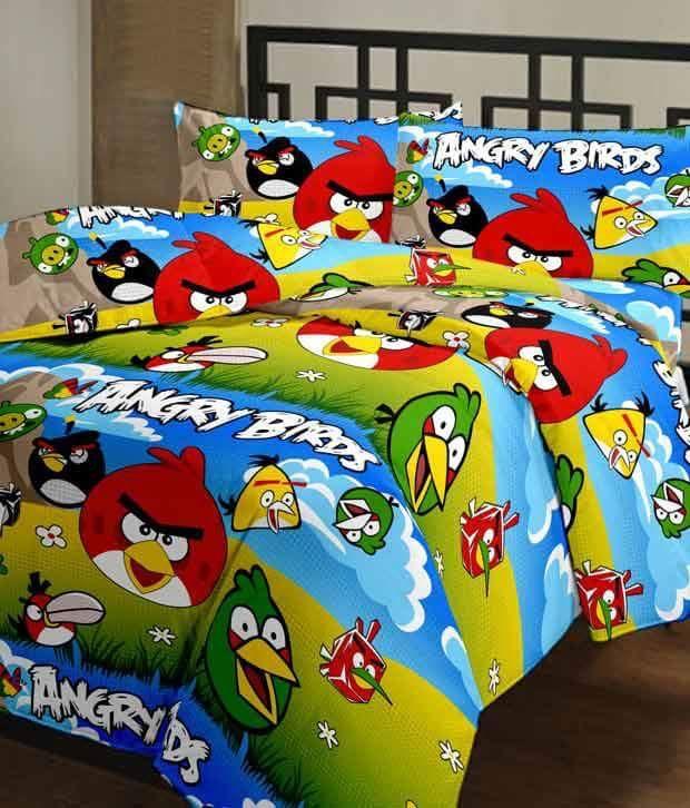 Angry Bird bedsheet