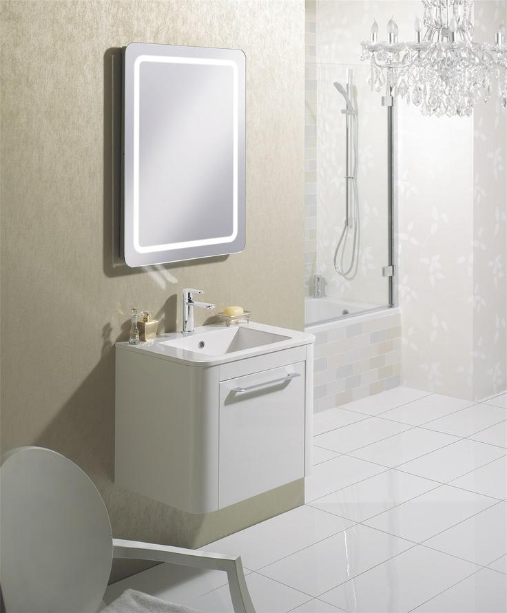 Celeste White Gloss Bathroom Furniture Unit u0026