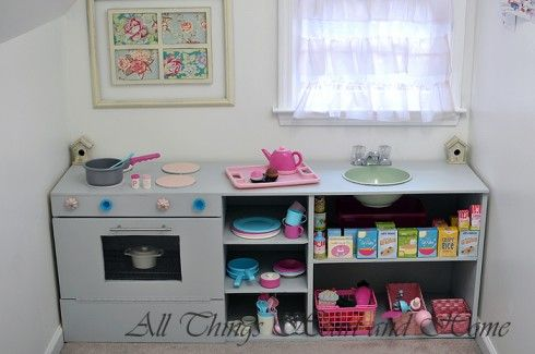 easy DIY play kitchen
