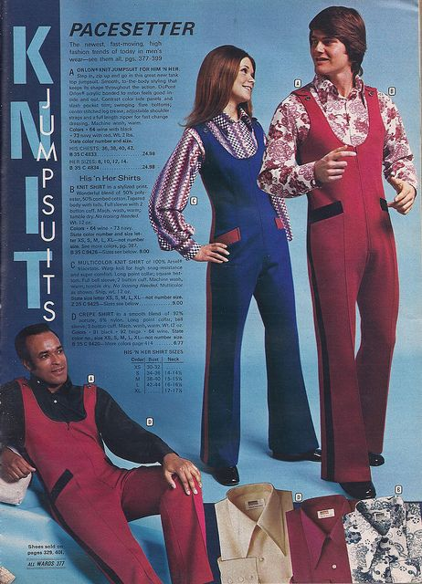 1972 -- I am sooo glad some fashions have not come back, and hopefully they never will. Ugly!