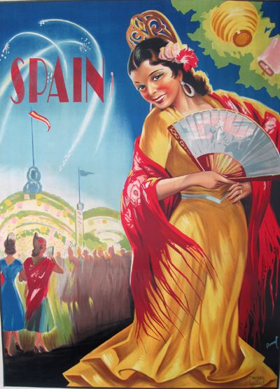 Spain Fireworks by Donat - Vintage Travel Posters Gallery at I Desire Vintage Posters, circa 1940