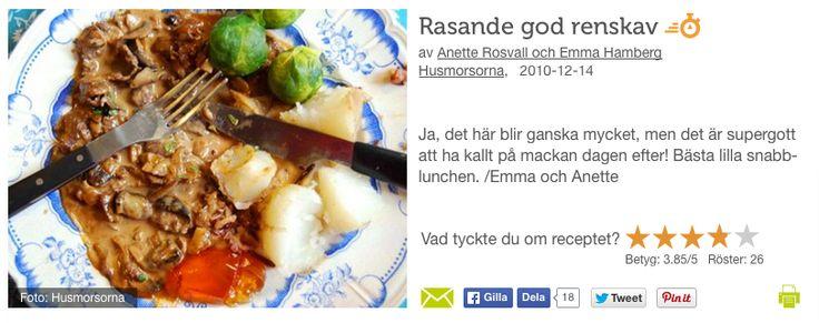 Renskav http://www.recept.nu/anette_rosvall_och_emma_hamberg/varmratter/kott/rasande_god_renskav/
