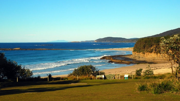 View along the coast from Pretty Beach in Murramarang National Park (Image: Mike Jarman/OEH)